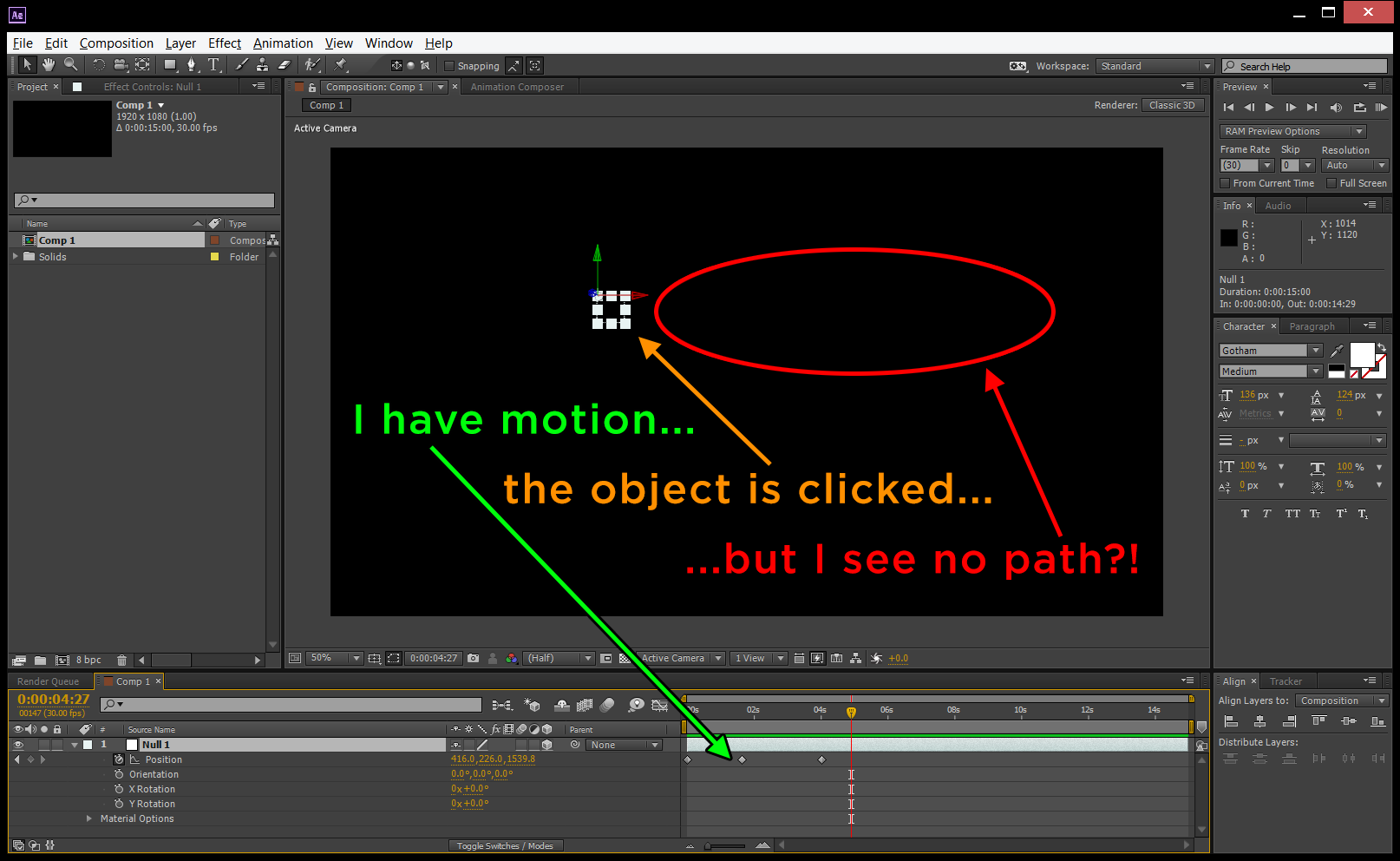 How To Get Motion Paths To Display In Adobe After Effects Cc Jody Hatton
