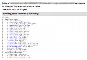 How big is my website? How to get a list of all files and directories using PHP