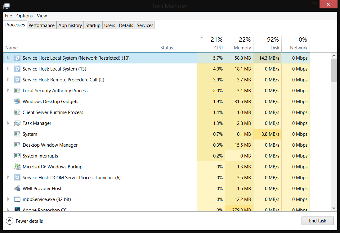windows 8.1 update high cpu usage